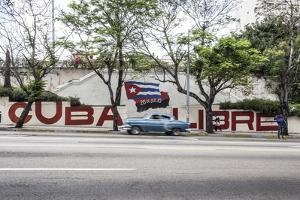 Revolutionary Sign on Calle 23, Vedado, Havana, Cuba by Jon Arnold