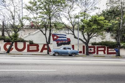 Revolutionary Sign on Calle 23, Vedado, Havana, Cuba