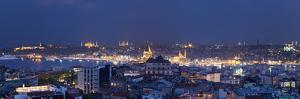 Skyline of Istanbul from the Beyoglu Area, Istanbul, Turkey by Jon Arnold