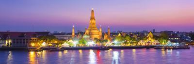 Temple of Dawn (Wat Arun) and Bangkok, Thailand by Jon Arnold