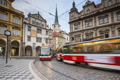 Tram in Mala Strana (Little Quarter), Prague, Czech Republic
