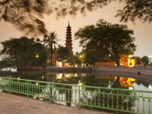 Tran Quoc Pagoda, West Lake (Ho Tay), Hanoi, Vietnam by Jon Arnold