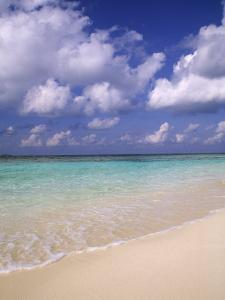 Tropical Beach at Maldives, Indian Ocean by Jon Arnold