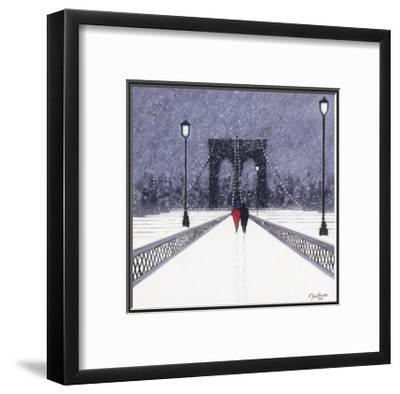 Nighttime Stroll Across Brooklyn Bridge - New York by Jon Barker