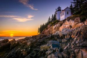 Bass Harbor Lighthouse at Sunset, in Acadia National Park, Maine. by Jon Bilous