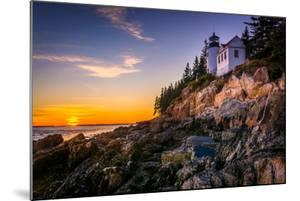 Bass Harbor Lighthouse at Sunset, in Acadia National Park, Maine. by Jon Bilous