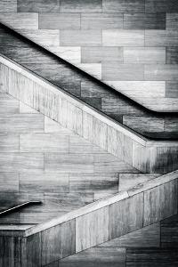 Staircases in the National Museum of the American Indian, in Washington, Dc. by Jon Bilous