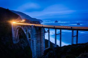 The Bixby Creek Bridge at Night, in Big Sur, California. by Jon Bilous