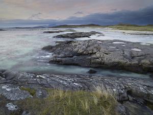 A Beautiful Moody Sunset over the Beach at Sanna Bay, Argyll and Bute, Scotland, United Kingdom, Eu by Jon Gibbs