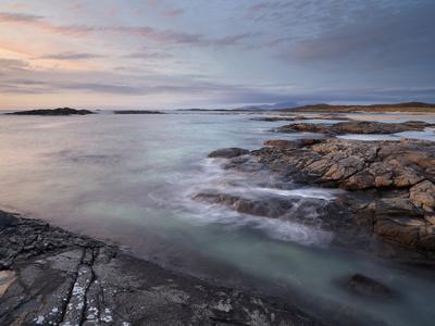 A Beautiful Moody Sunset over the Beach at Sanna Bay, Argyll and Bute, Scotland, United Kingdom, Eu