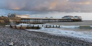 A beautiful sky on a spring morning at Cromer, Norfolk, England, United Kingdom, Europe by Jon Gibbs