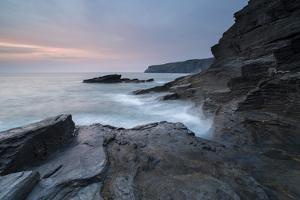 A coastal scene from Trebarwith Strand, Cornwall, England, United Kingdom, Europe by Jon Gibbs