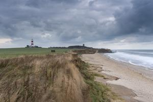 A moody sky looms over the coast at Happisburgh, Norfolk, England, United Kingdom, Europe by Jon Gibbs
