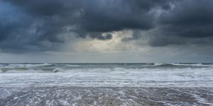 A stormy sea and sky at Happisburgh, Norfolk, England, United Kingdom, Europe by Jon Gibbs