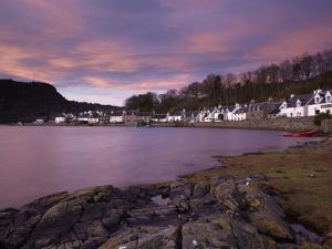 A Stunning Sky at Dawn over the Pictyresque Village of Plockton, Ross-Shire, Scotland, United Kingd by Jon Gibbs