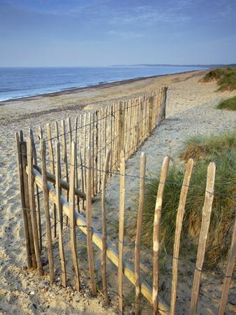 A Summer Morning on the Beach at Walberswick, Suffolk, England, United Kingdom, Europe