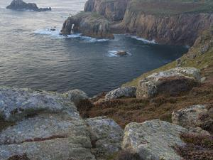 A view from the cliffs at Lands End, Cornwall, England, United Kingdom, Europe by Jon Gibbs