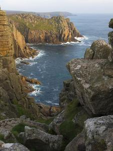A view of Pordenack Point at Lands End, Cornwall, England, United Kingdom, Europe by Jon Gibbs