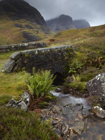 A View of the Three Sisters of Glencoe from the Military Road, Glencoe, Argyll, Scotland, United Ki