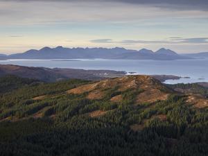 A View Towards the Isle of Skye from Plockton Cags, Plockton, Ross Shire, Scotland, United Kingdom, by Jon Gibbs