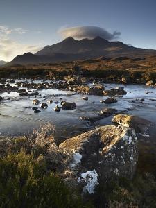 A Winter Morning View of the Mountain Sgurr Nan Gillean, Glen Sligachan, Isle of Skye, Inner Hebrid by Jon Gibbs