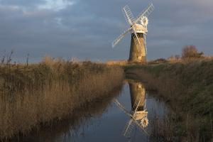Beautiful early light on St. Benet's Mill, Norfolk, England, United Kingdom, Europe by Jon Gibbs