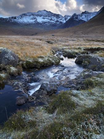 Glen Brittle and the Cuillin Mountains on a November Afternoon, Isle of Skye, Scotland, Uk