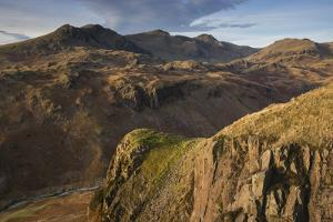Late evening light on the Scafells from above Hardknott Fort, Lake District National Park, Cumbria, by Jon Gibbs