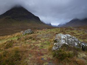 Low Cloud Hangs over Glencoe, Argyll, Scotland, United Kingdom, Europe by Jon Gibbs