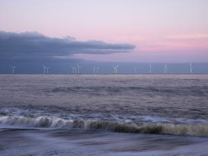 Twilight Hues in the Sky, View Towards Scroby Sands Windfarm, Great Yarmouth, Norfolk, England by Jon Gibbs