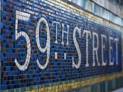 59Th Street Subway Station Sign.