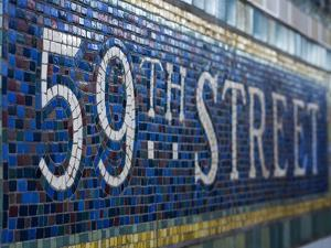 59Th Street Subway Station Sign. by Jon Hicks