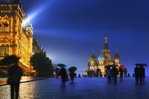 A Wet Evening in Red Square. by Jon Hicks