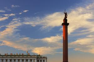 Alexander Column in Palace Square. by Jon Hicks