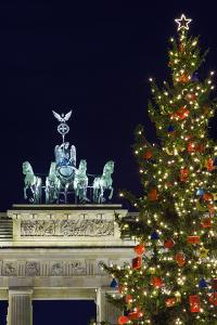 Christmas Tree and Brandenburg Gate by Jon Hicks