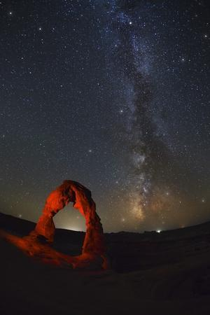 Delicate Arch and the Milky Way.