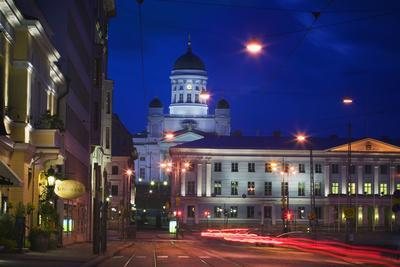 Great Church in Helsinki at Night