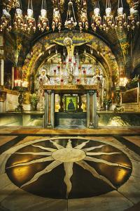 Interior of the Church of the Holy Sepulchre by Jon Hicks