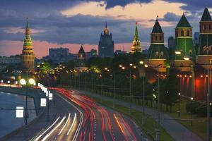 Kremlevskaya Nab at Dusk by Jon Hicks