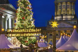 Lighted Sign at Gendarmenmarkt Christmas Market by Jon Hicks