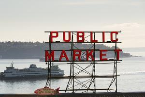 Pike Place Market Sign. by Jon Hicks