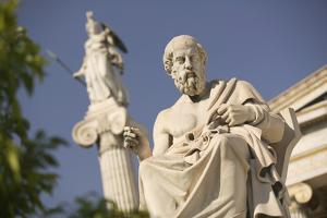 Plato Statue outside the Hellenic Academy by Jon Hicks