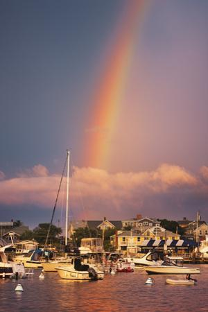 Rainbow over Oaks Bluffs on Martha's Vineyard by Jon Hicks