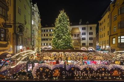 The Old Town Christmas Market, Innsbruck, Austria.