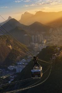 The Sugarloaf Mountain Cable Car at Sunset, Rio De Janeiro. by Jon Hicks
