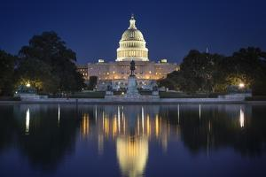 The US Capitol and Reflecting Pool. by Jon Hicks