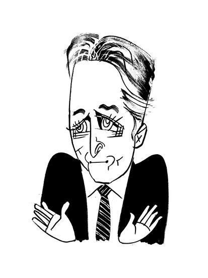 Jon Stewart - Cartoon-Tom Bachtell-Premium Giclee Print