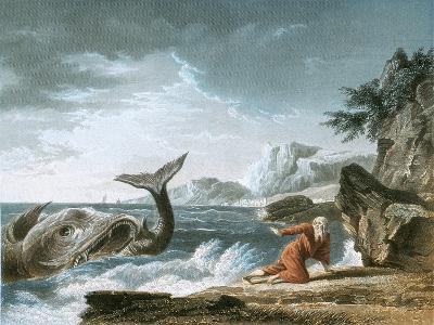 Jonah Having Been Vomited Out by the Whale onto Dry Land-Claude Joseph Vernet-Giclee Print