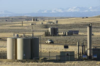 Jonah Natural Gas Field South of Pinedale, Wyoming-Gerrit Vyn-Photographic Print
