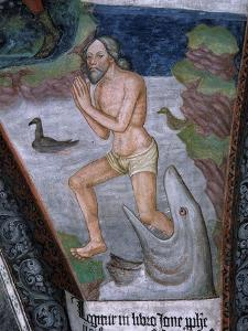 Jonah Stepping from Whale's Mouth, Fresco, 15th - 16th Century